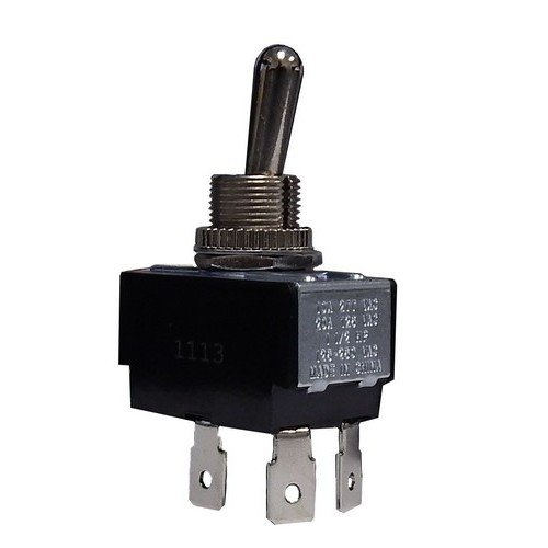 Morris 70101 Heavy Duty Toggle Switches, DPST On-Off, Quick Connect Terminals, 2 Poles