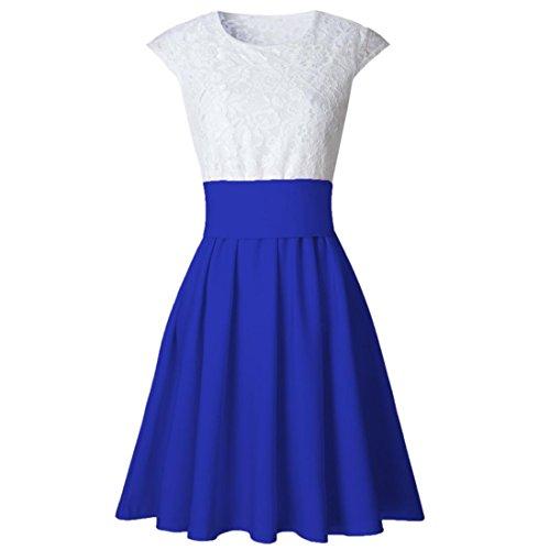 Jupe Femmes amp;Dress Fluffy Lenfesh Cocktail Mini bleu Party Robe U6nBxBgF