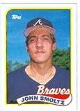 John Smoltz baseball card (Atlanta Braves Hall of Famer) 1989 Topps #382 Rookie