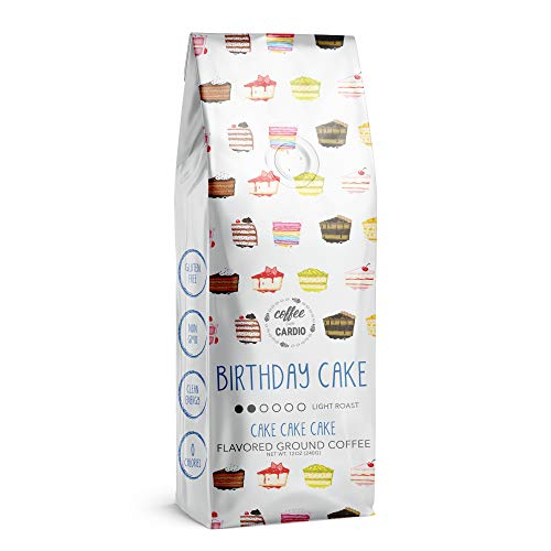 Coffee Over Cardio Birthday Cake Flavored Coffee Light Roast Breakfast Blend -...