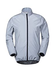 Mountain Warehouse 360 Reflective Mens Jacket Silver X-Large