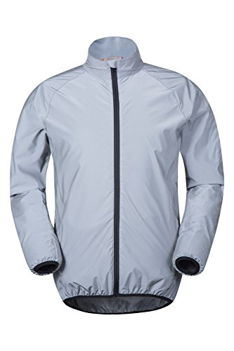 Mountain Warehouse 360 Reflective Mens Cycling Jacket - High Vis for Running Silver Large