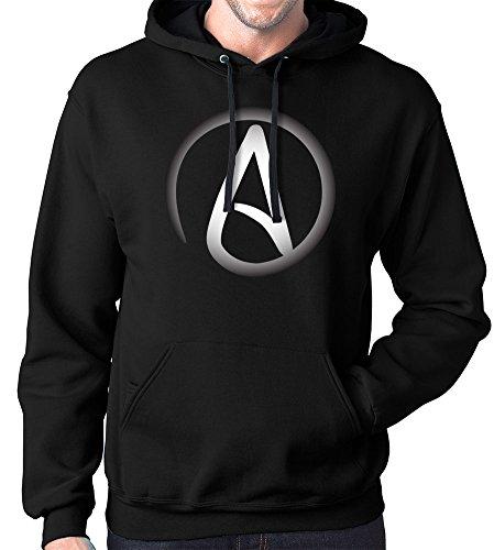 Atheist Hoodie Sweatshirt, XL, Black