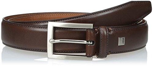 Johnston & Murphy Men's Johnston & Murphy Dress Belt Dark Brown 38 (Calfskin Belt)