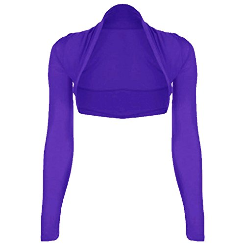 Mujer Bolero, manga larga, jersey, tallas 34–�?2 Violet - Violeta