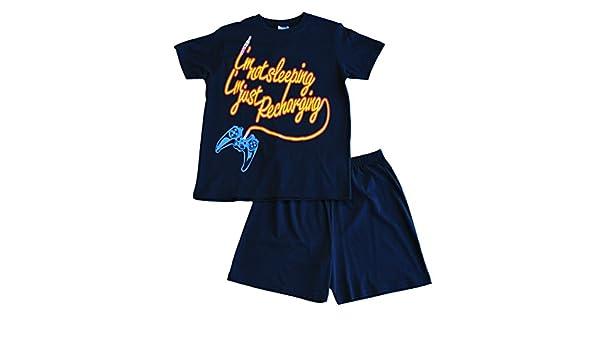 Amazon.com: Boys Im Not Sleeping Im Just Recharging Short Pyjamas 11 to 16 Years Blue: Clothing
