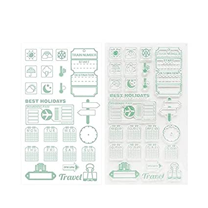 Amazon Com Stamps 1pcs Silicone Clear Stamp Travel Diary Building