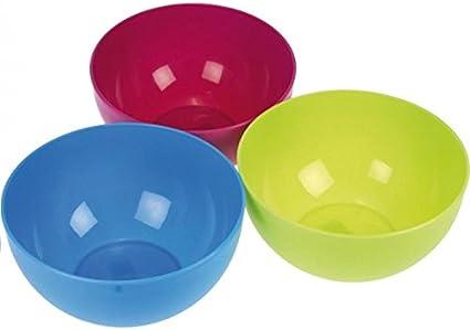 3er-pack Plastikschüssel rund 4 L Kunststoffschüssel Salatschale Schüssel