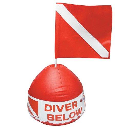 Innovative Scuba Concepts Diver Below Inflatable Float Dive Flag