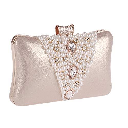 frange donna sera tempestate Colore di borsa diamanti di da con sera con Borsa Oro per perle Ofgcfbvxd Oro da qB84vv