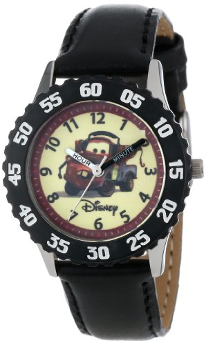 Disney Kids' W000087 Cars Stainless Steel Time Teacher Watch