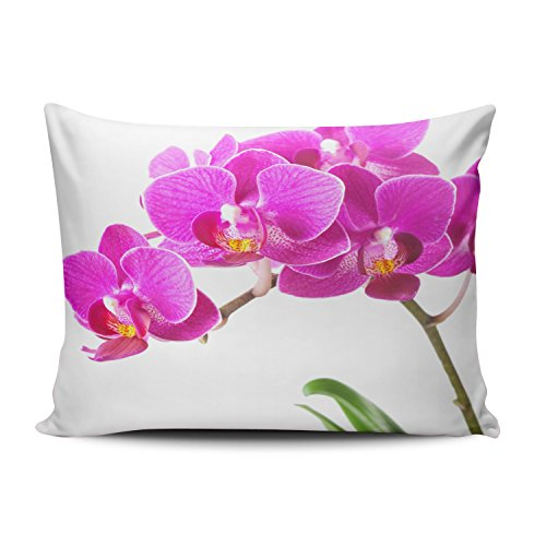 Red Dendrobium Orchid (ZeDae Pink Purple Dendrobium Orchid Tropical Flower Personalized Pillowcases Cute Decorative Pillow Case Cover 20x26 Inches Pillowcase One Sided)