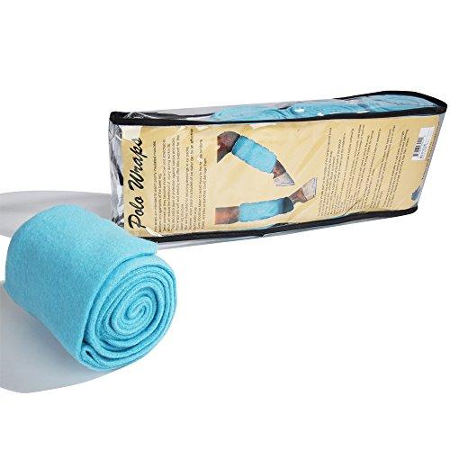 Intrepid International Polo Wraps - Full Set of 4 Wraps, Teal
