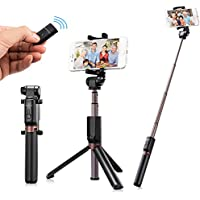 Eocean Selfie Stick Phone Tripod, iPhone Tripod with Detachable Bluetooth Remote Camera Shutter for iPhone 6s 6 Plus Samsung Galaxy Nexus Moto Android iOS Smartphones Selfie Stick iPhone 7 Plus