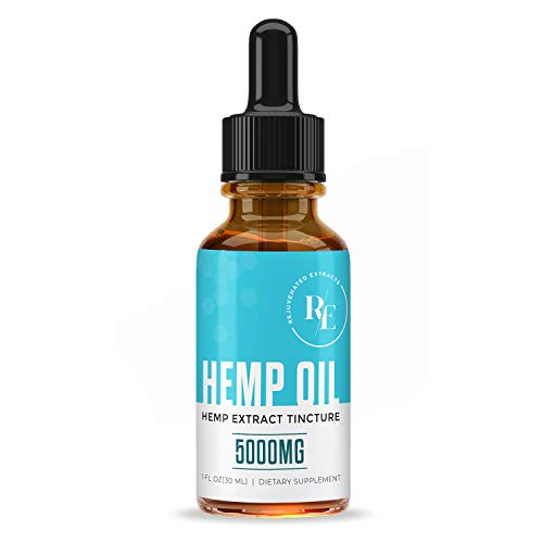 Hemp Oil for Pain Relief - 5,000mgs of All Natural Hemp Oil - Helps with Anxiety, Mood and Sleep - Natural Anti Inflammatory - 1 Fl Oz (30ml)