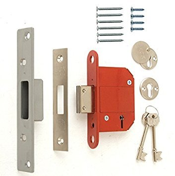 Era Fortress 5 Lever Mortice Deadlock, Satin 76mm