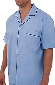 Del Rossa Men's Cotton Pajamas, Short Button-Down Woven Pj Set
