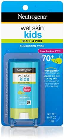 Neutrogena Wet Skin Kids Stick Sunscreen Broad Spectrum Spf 70, 0.47 Oz.
