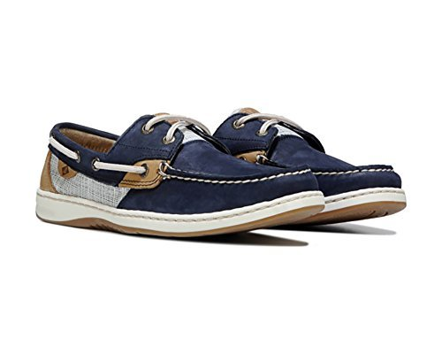 Sperry Women's, Bluefish 2 Eye Boat Shoes Navy Multi 9.5 M
