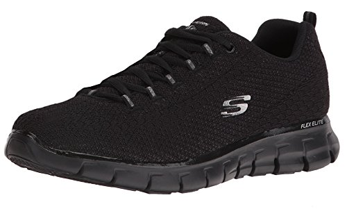 Skechers Women's Synergy Safe and Sound Training Shoe,Black,US 10 M