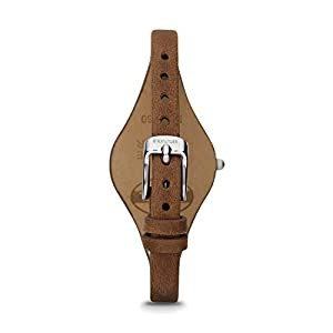 Fossil Women's Georgia Quartz Leather Casual Watch, Color: Silver, Brown, 8 (Model: ES3060)