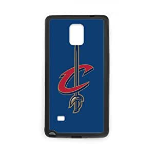 FUNKYCAT Cleveland Cavaliers Hot Sale Pattern Decorative Cellphone Accessories Custom Case for SamSung Galaxy Note4 (Laser Technology)