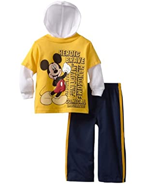Disney Baby Boys 2 Piece Mickey Heroic Brave Pant Set