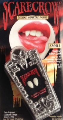 NEW Scarecrow Subtle Small Professional Fangs (Small Deluxe Vampire Fangs)