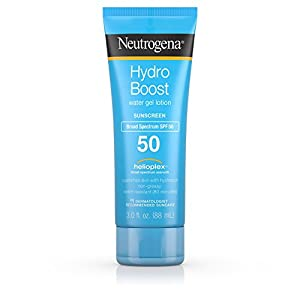 Neutrogena Neutrogena hydro boost water gel non-greasy moisturizing sunscreen lotion with broad spectrum spf 50, water-resistant, 3 fl. Ounce , SPF 50, 3 Fluid Ounce (Pack of 3)