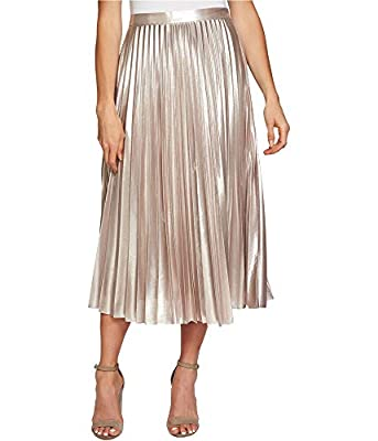 1.State Womens Pleated Midi Skirt