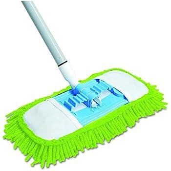Quickie Microfiber Dust Mop (060) Green, 48 Inch Steel Handle, Each ( Handle May Vary )