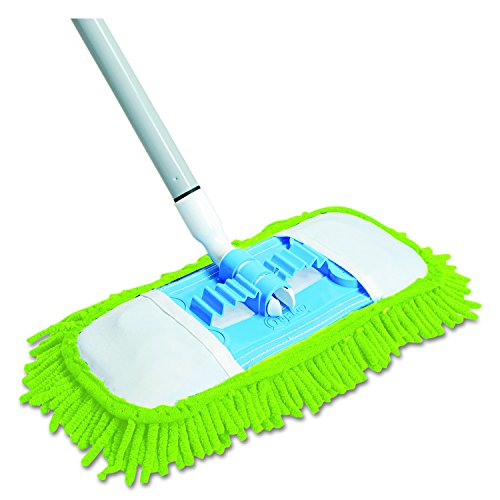 Head Mop Disposable (Quickie Microfiber Dust Mop (060) Green, 48 Inch Steel Handle, Each ( Handle May Vary ))