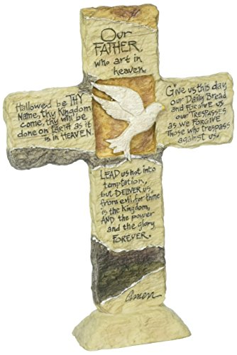 Carson Home Accents 12903 Lord's Prayer Earth Stone Cross, 11-Inch by - Plaque Art Stone
