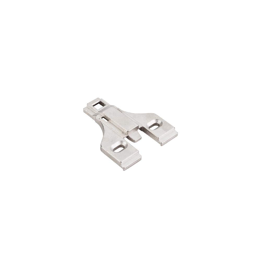 Hardware Resources 400.3553.65 500 Series Mounting Plate for Concealed Euro Hing, Polished Nickel