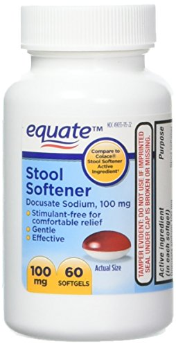 Equate - Stool Softener 100 mg, 140 Capsules