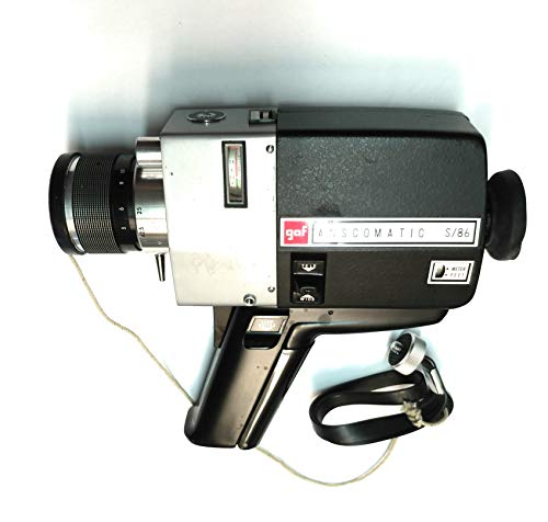 gaf ANSCOMATIC S/86 Vintage Super 8mm Movie Camera. Collector's Item. Don't Know if Still Works.