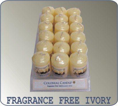 Votives Colonial Candle, Unscented Ivory - Votives Colonial Candle