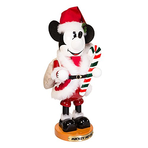 (Steinbach 14-Inch Mickey Mouse Nutcracker in Santa Claus Outfit )