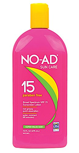 Spf 15 Sunscreen Protection - NO-AD Sunscreen Lotion, SPF 15 16 oz