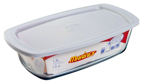Marinex 1-2/3-Quart Loaf Pan with Plastic Storage Lid