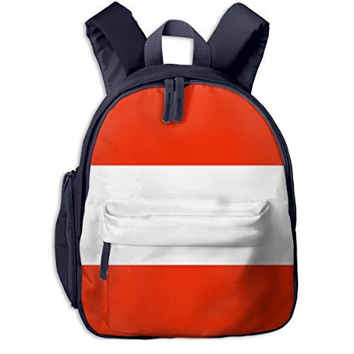 Austrian Flag Children Bag Design Student Backpack Funny Super Bag