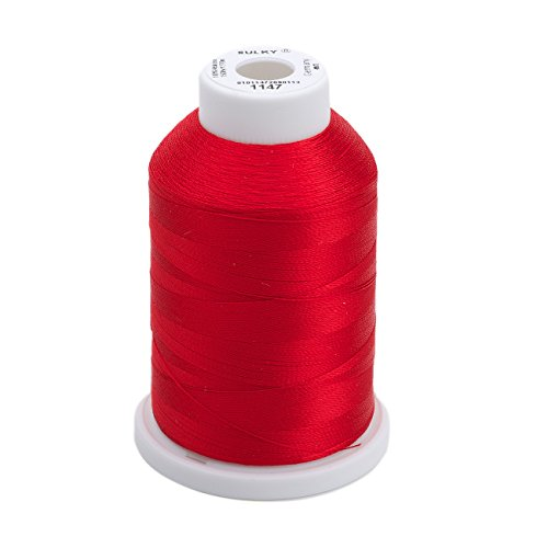 (Sulky Of America 268d 40wt 2-Ply Rayon Thread, 1500 yd, Christmas Red)