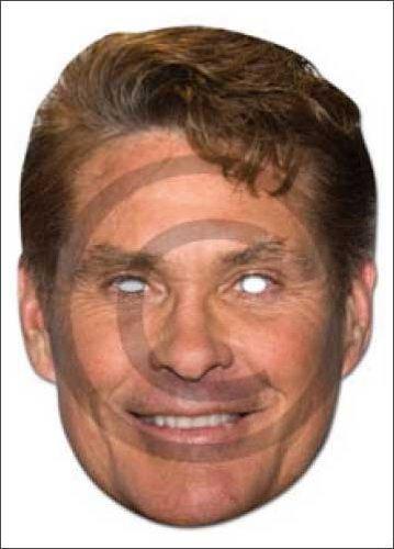David Hasselhoff Cardboard Celebrity Party Mask - Single