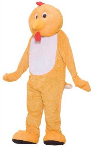- Forum Deluxe Plush Chicken Mascot Costume, Yellow, One Size