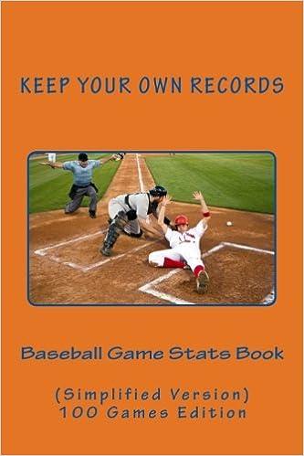 Mejor Torrent Descargar Baseball Game Stats Book: Keep Your Own Records (simplified Version): Volume 5 Novedades PDF Gratis