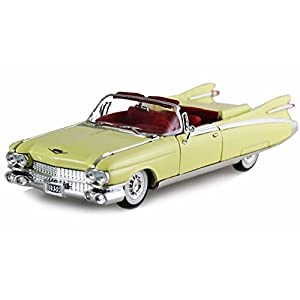 Vintage cars models diecast top 1959 cadillac eldorado biarritz convertible yellow signature models 32350 132 scale fandeluxe Gallery