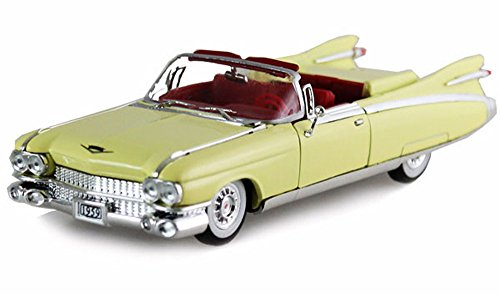 Cadillac Eldorado Biarritz Car - Signature Models 1959 Cadillac Eldorado Biarritz Convertible, Yellow 32350 - 1/32 Scale Diecast Model Toy Car