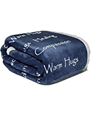 Compassion Blanket - Strength Courage Super Soft Warm Hugs, Get Well Gift Blanket Plush Healing Thoughts Positive Energy Love & Hope with Fluffy Comfort