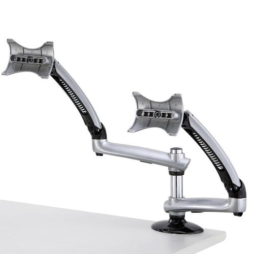 Cotytech Dual Apple Desk Mount Spring Arm Clamp Base - Silver (DM-GSDA-C) by Cotytech