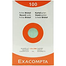Exacompta Index Cards 5X8 Inch, 100 Pack